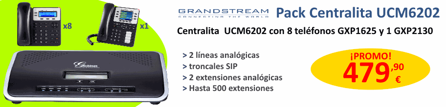 Centralita Grandstream UCM6202 con 8 teléfonos GXP1625 y 1 GXP2130 por 479,90 €