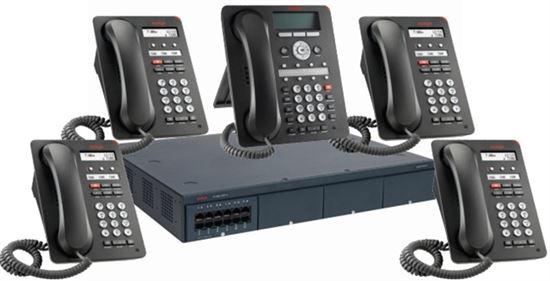 Imagen de Avaya centralita IP Office 500 V2 con 10 teléfonos y 4 RDSI