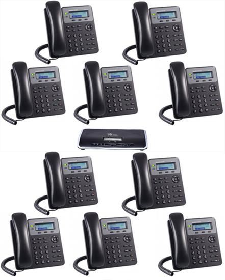 Imagen de Centralita Grandstream UCM6202 con 10 teléfonos GXP1610