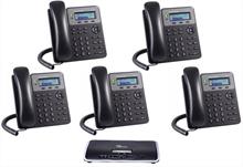 Imagen de Centralita Grandstream UCM6202 con 5 teléfonos GXP1610