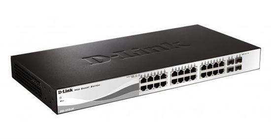 Switch D-link DGS-1210-28p 24 puertos de 1 Gigabit con PoE y 4 SFP