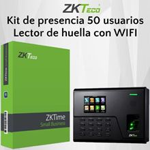 Imagen de ZKTECO Kit UA760 SM50 de presencia 50 empleados