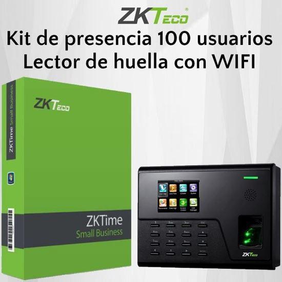 Imagen de ZKTECO Kit UA760 SM100 de presencia 100 empleados